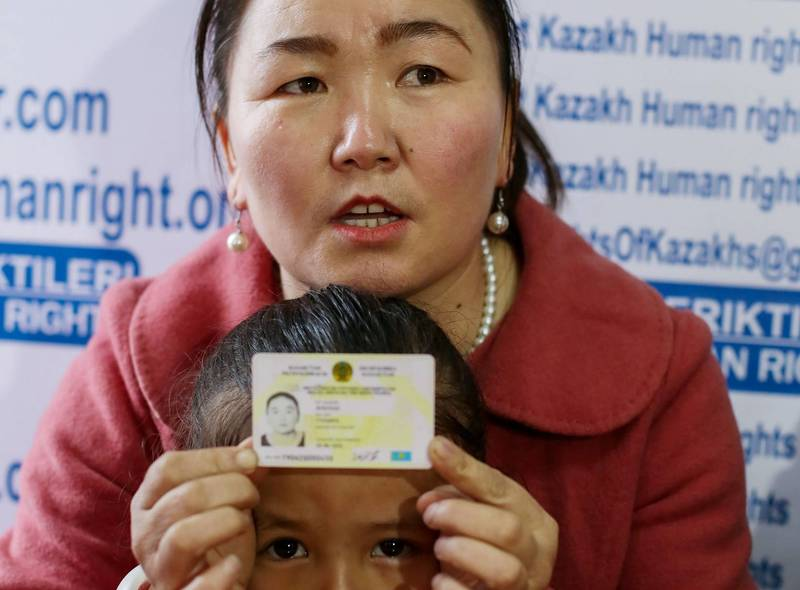 新疆拘留营倖存者哈萨克族妇女古尔孜拉,昨日已被成功营救,抵达美国。(法新社)(photo:LTN)