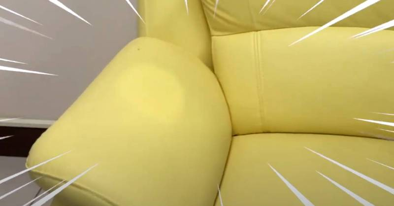 陳時中辦公室沙發被睡出一個頭型。(擷自蘇貞昌臉書影片)