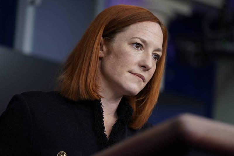 白宮發言人莎琪(Jen Psaki)11日召開記者會時說,拜登總統對面臨的挑戰有清楚的認識。(美聯社)