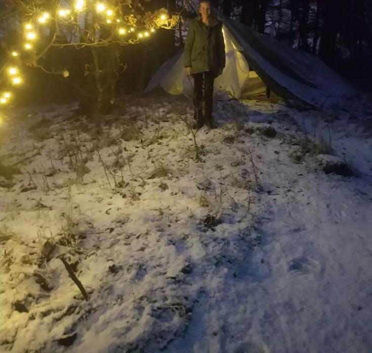 丹麥東日德蘭的哈默爾(Hammel)當地天氣十分酷寒。(圖擷自駐丹麥台北代表處臉書)