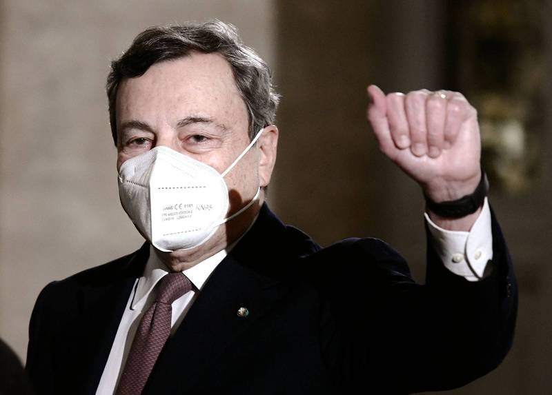 前欧洲央行行长德拉吉今日将接下义大利总理的重担,试图带领国家走出武汉肺炎与经济危机。(法新社)(photo:LTN)