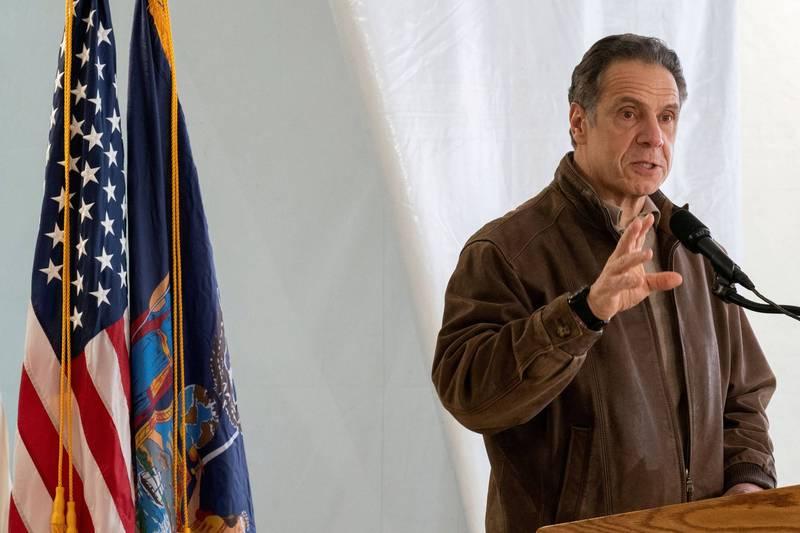 纽约州长古莫被指控隐瞒安养院武肺真实死亡人数,也出现要求古莫下台的声浪。(路透)(photo:LTN)