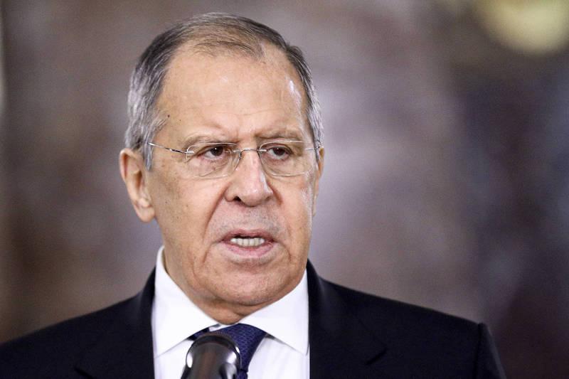 俄羅斯外交部12日公佈外長拉夫羅夫(Sergey Lavrov)採訪片段,指稱俄國已經做好與歐盟決裂的準備了,圖為拉夫羅夫。(美聯社資料照)