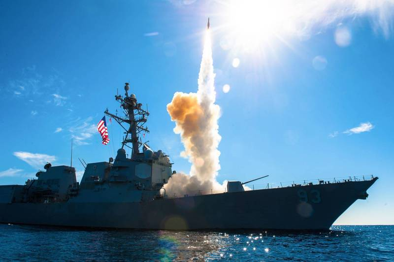 The US Defense Security Cooperation Agency announced on the 5th that it would sell up to 16 Standard Type II air defense missiles to Chile, worth about NT$2.38 billion. The picture shows the US warship launching Standard Type II missiles.  (AFP information photo)