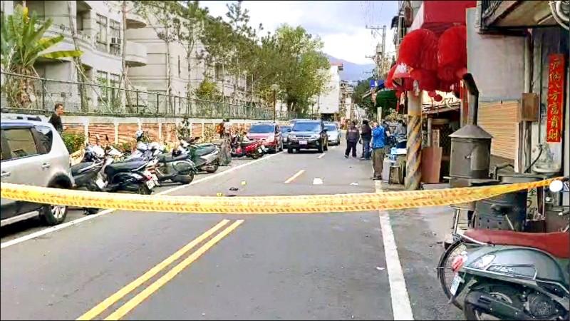 埔里街頭昨天發生槍擊案,60歲男子被開一槍,擊中胸部斃命。(民眾提供)