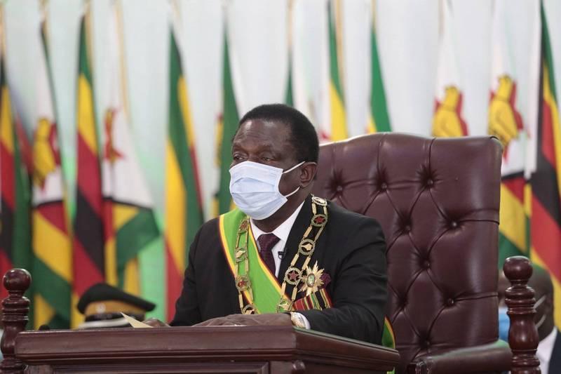 津巴布韦总统曼纳格格瓦(见图)表示,中国所捐疫苗如「隧道尽头的光芒」。(欧新社)(photo:LTN)