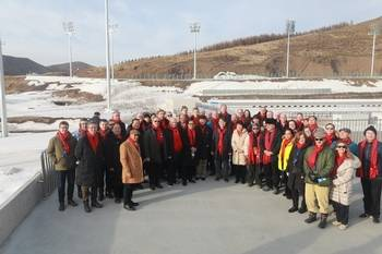The Chinese Ministry of Foreign Affairs invited diplomats or senior diplomats from more than 30 countries including Russia, France, and Germany to Zhangjiakou City, Hebei Province to visit the 2022 Winter Olympic Games, but representatives from the United States, Britain and Australia were absent.  (Taken from the website of the Chinese Ministry of Foreign Affairs)