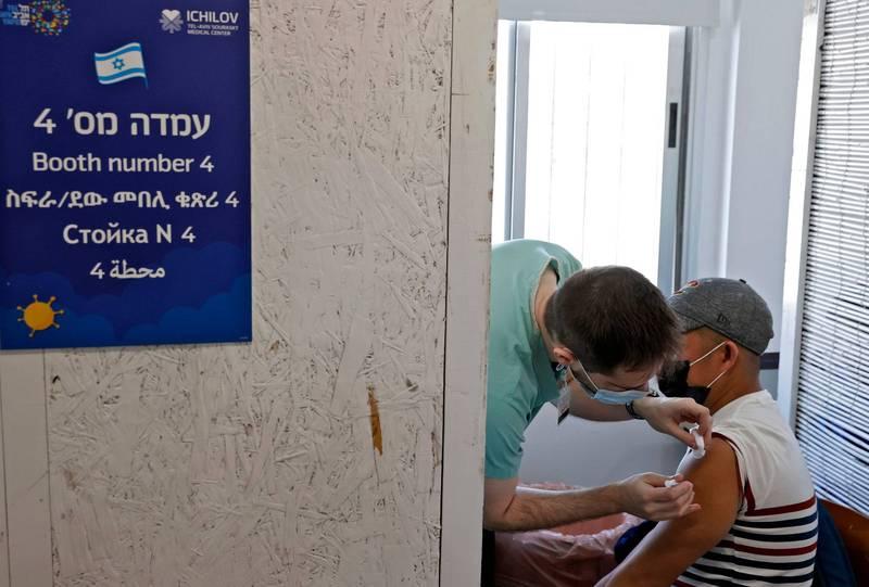 以色列目前已有近40%的人口接種疫苗,成為全球接種比例最高的國家。(法新社)