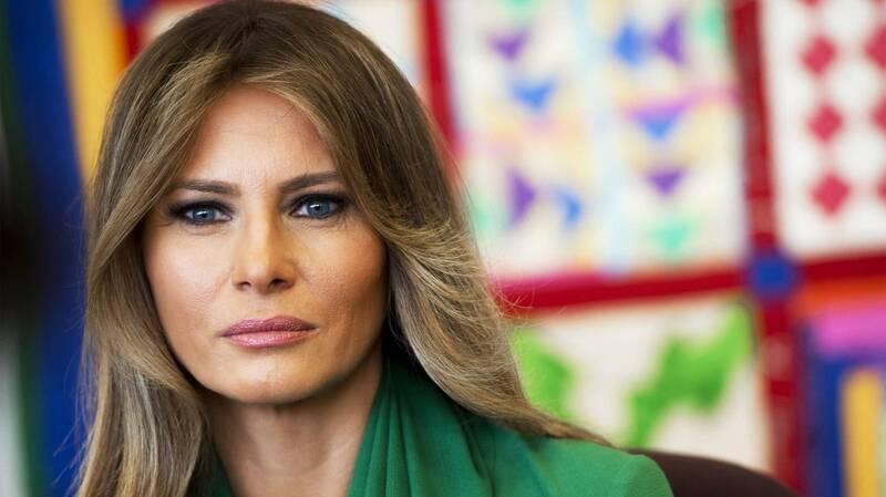 梅兰妮亚斥责CNN散布她的虚假消息。(法新社资料照)(photo:LTN)