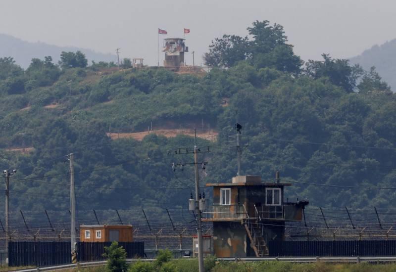 圖為兩韓邊境哨所。(路透)