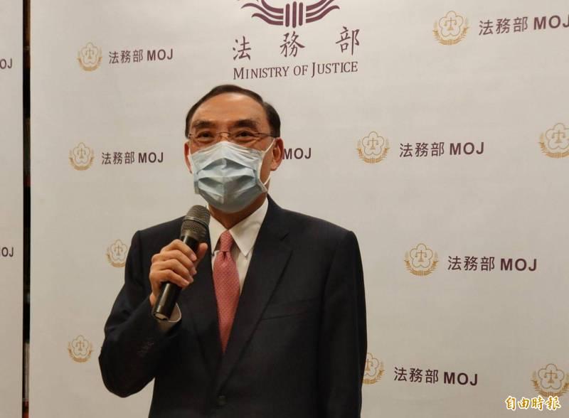 法務部長蔡清祥表示將多聽各界意見。(記者吳政峰攝)