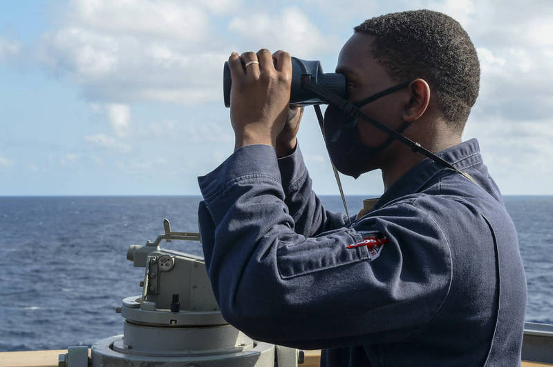 After Biden described China as the main US adversary, the US Navy launched operations in the South China Sea.  (Taken from the US Navy website)