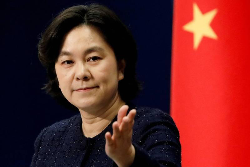 中國外交部發言人華春瑩。(路透檔案照)