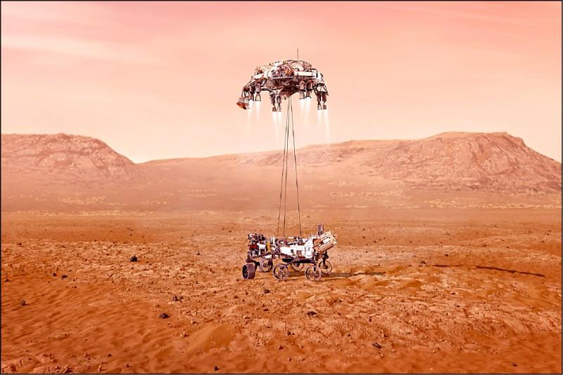 美國航太總署(NASA)火星探測器「毅力號」預定台灣時間19日進入火星大氣層並登陸火星。(美聯社)