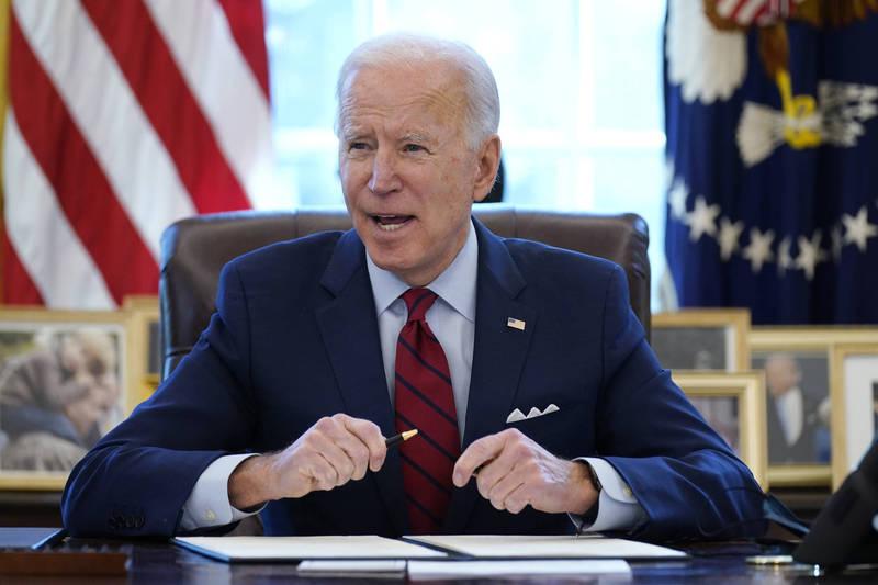 美國總統拜登(Joe Biden)18日將與世界各國領導人一起參加七大工業國集團(G7)的視訊會議。(美聯社資料照)