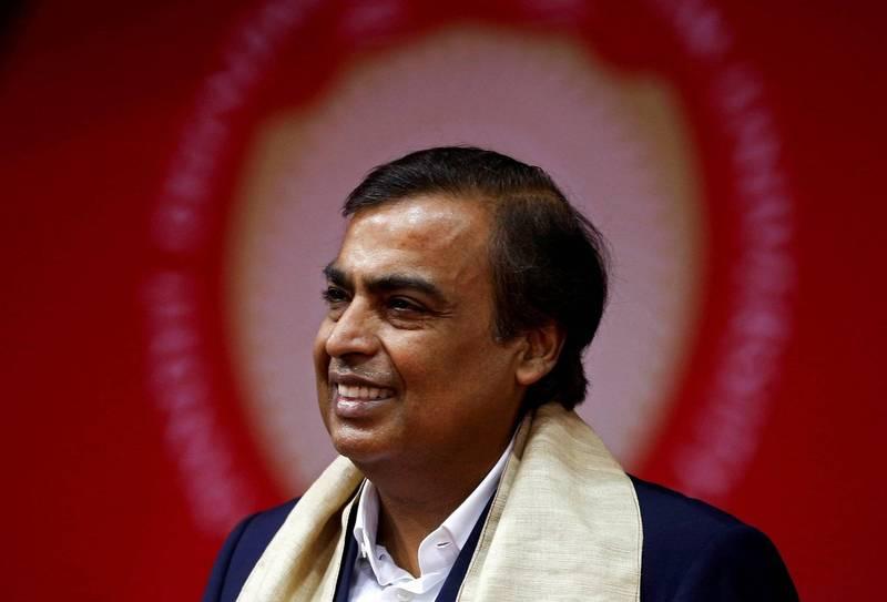近來電商巨頭亞馬遜在印度和亞洲首富安巴尼(見圖)掌管的全印最大公司「信實集團」打起官司,背後則涉及了印度的電商龍頭之爭。(路透)