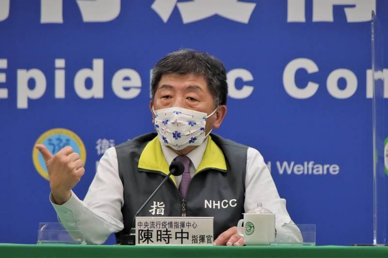 指揮中心指揮官陳時中今天再度被媒體質疑對中國疫苗態度「曖昧不明」;陳時中重申,他的態度很清楚,就是「不排斥、沒打算」。(指揮中心提供)