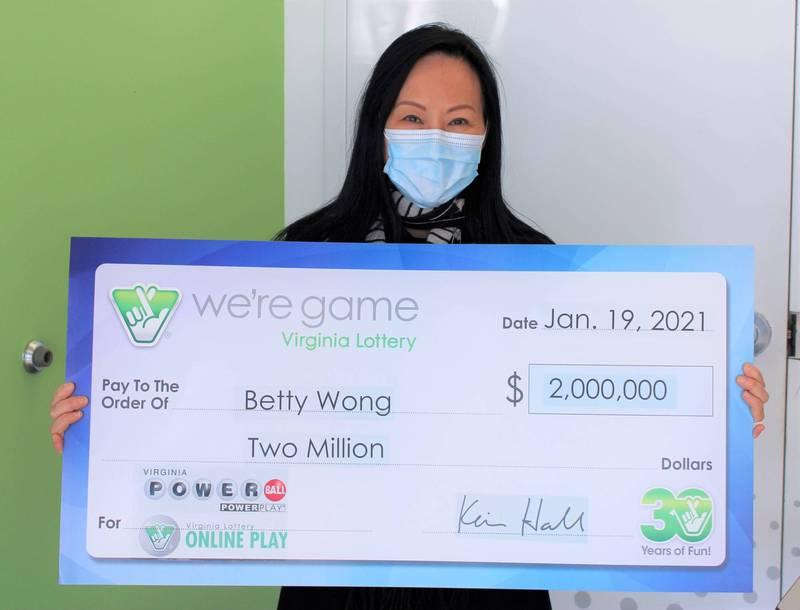 美國一名女子日前購買彩券時犯下錯誤,不小心一次購買了50張彩券,沒想到竟然就讓她賺了200萬美元(約新台幣5600萬)的獎金。(擷取自Virginia lottery官網)