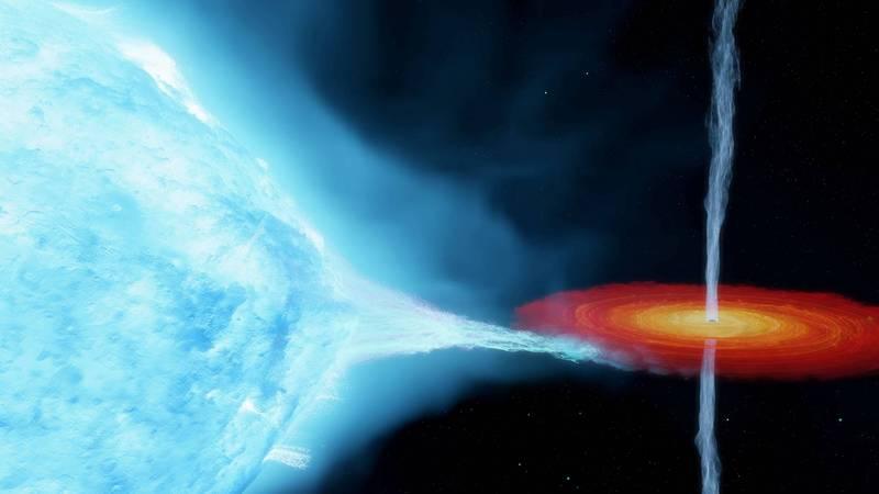 「天鵝座X-1」的黑洞質量較科學家原先計算的大上許多。(路透)