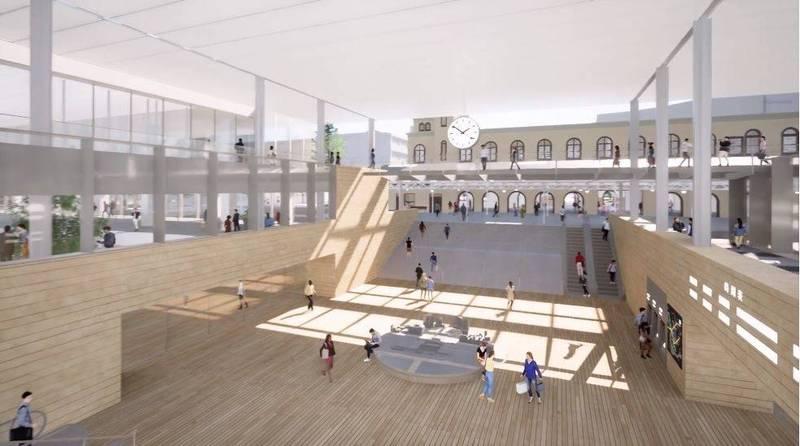 台南車站新站體設計造型曝光。(擷自交通部鐵局影片)