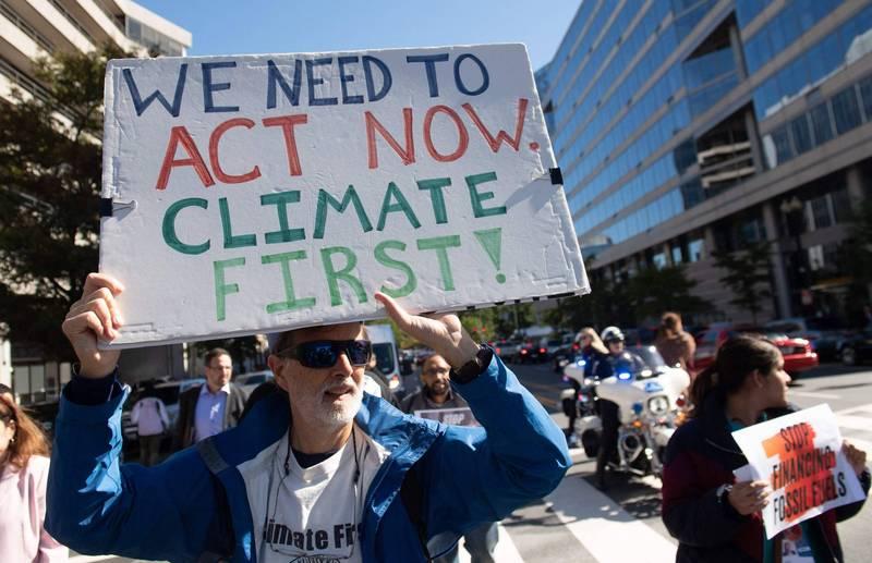 美國正式重返《巴黎氣候協定》。(法新社)