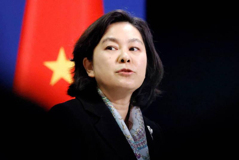 中國外交部發言人華春瑩19日回答記者提問時反問,為什麼「中國人不可以使用推特和臉書?」(路透資料照)
