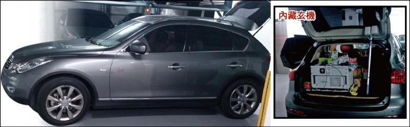 M化車的外觀與一般車輛無異(左圖),車內則放有科技儀器(右圖)。 (資料照,王世堅提供)