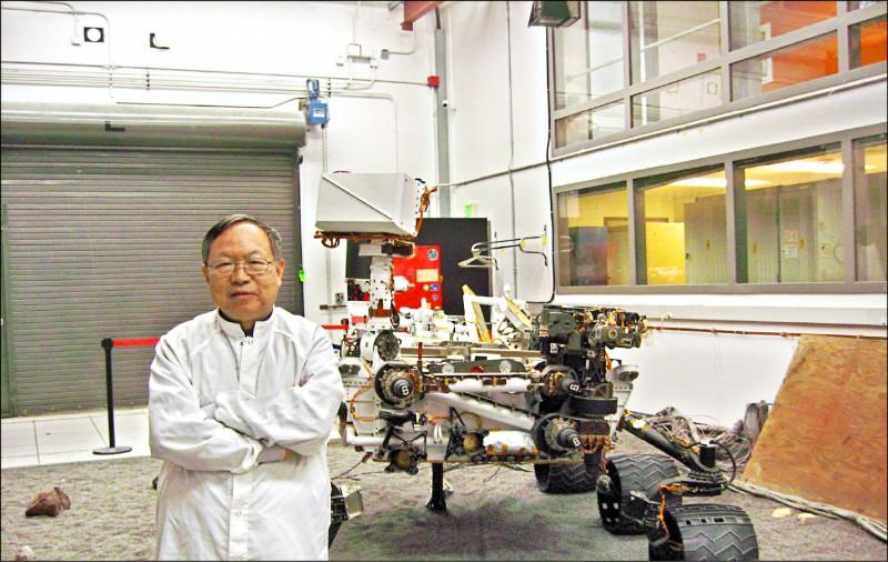 來自台灣的電機博士劉登凱,參與太空船設計。(劉登凱提供,中央社)