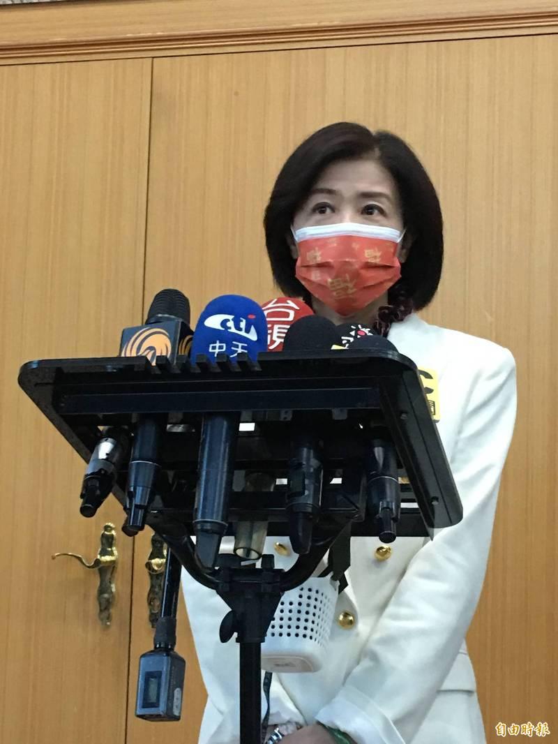國民黨文傳會主委王育敏。(記者林良昇攝)