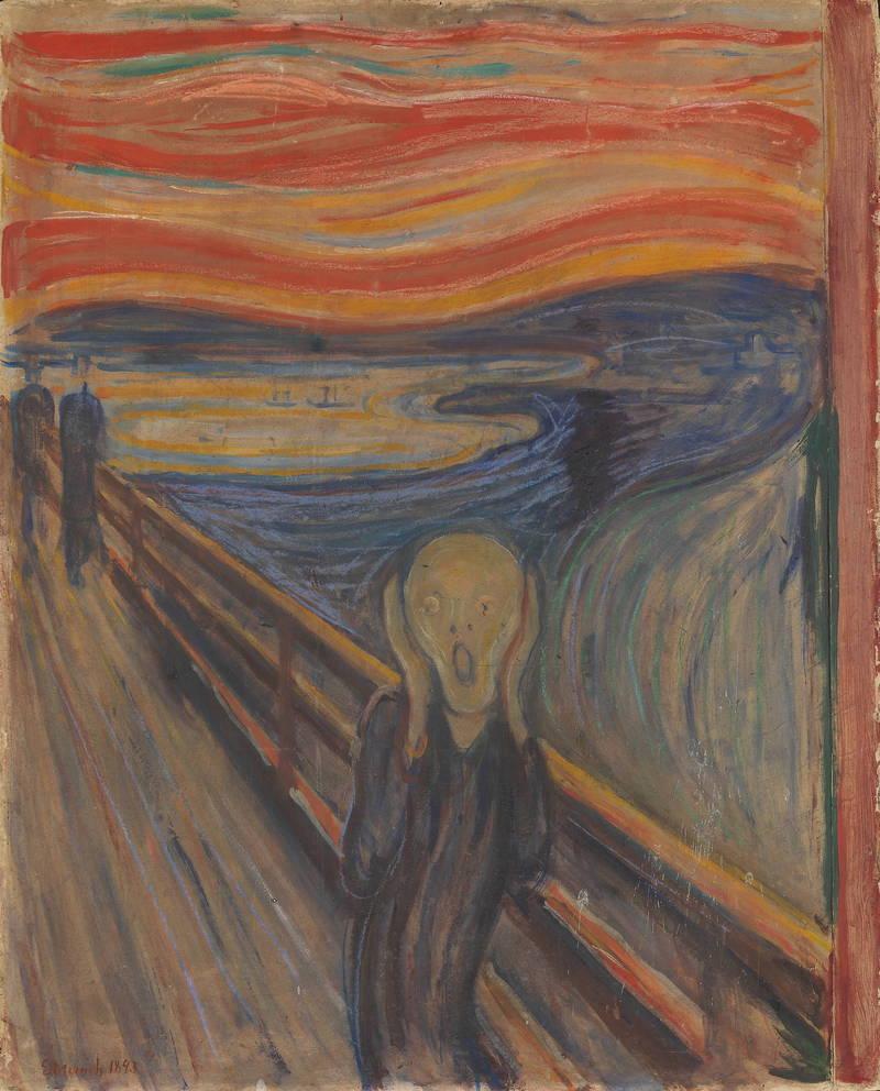 孟克曾經在日記裡寫下:「只要我還能夠記得,我就一直試圖在我的作品中表達我所感受到的焦慮感」。(歐新社)