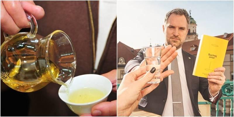 賀吉普透露自己不喜歡喝酒,「我真正喜歡的是優質茶葉,例如台灣的烏龍茶,我很推薦。」(左圖資料照,右圖取自賀吉普臉書)