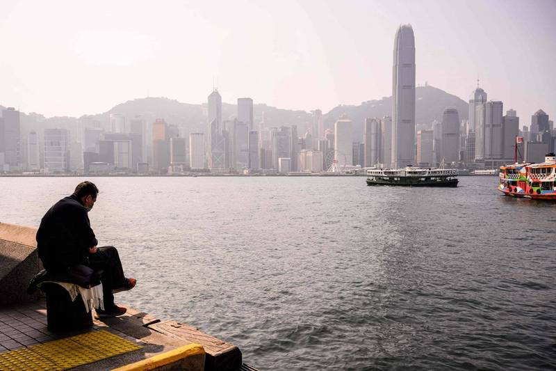 香港移民潮大爆發歷史新高。圖為香港維多利亞港一景。(法新社)