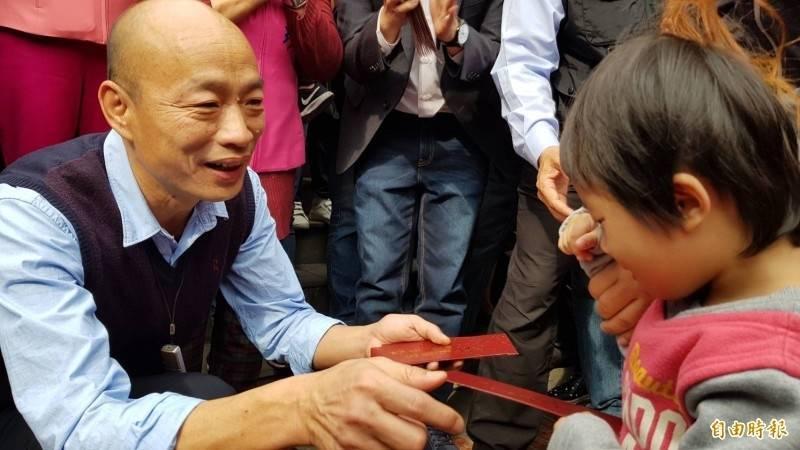 前高雄市長韓國瑜以「韓先生來敲門」的公益系列影片,重出江湖。(資料照)