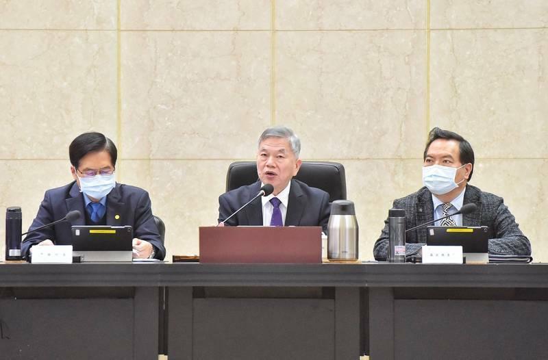 行政院副院長沈榮津今(23)主持「國土安全政策會報」,檢討去年國土安全業務,並指示今年工作重點。(圖為過去會議資料照)