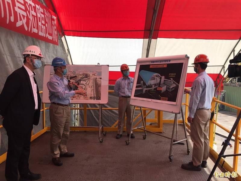副市長羅達生視察中鋼公司煤礦室內化建築工程。(記者陳文嬋攝)