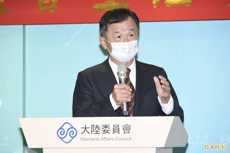 對於兩岸如何恢復對話,新任陸委會主委邱太三今天表示務實處理,希望雙方能夠很務實來看待未來的兩岸交流。(記者塗建榮攝)
