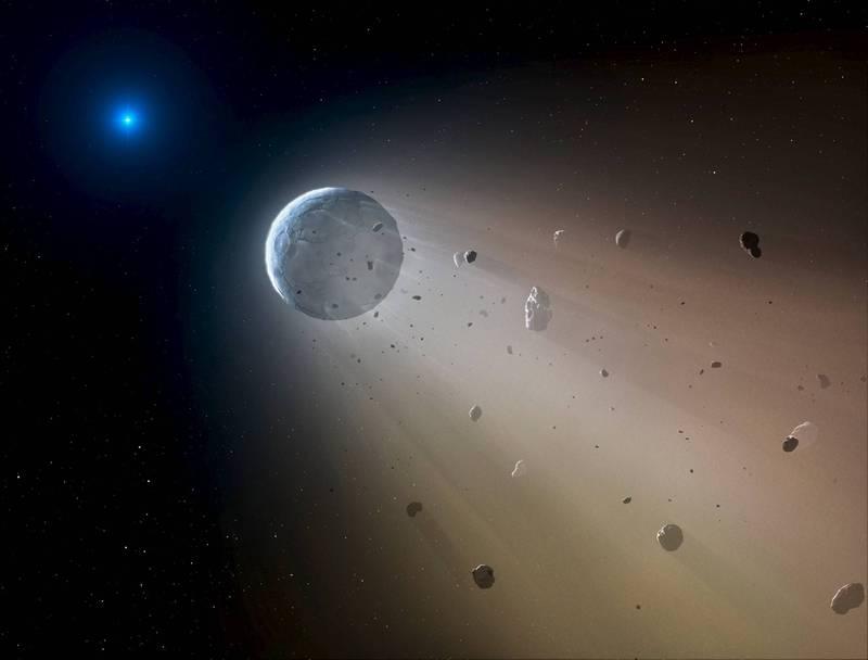 一顆直徑最大可能達1.7公里的小行星在下個月將飛掠過地球,是今年最大、速度最快的近地天體。藝術渲染圖,與本新聞無關。(路透)