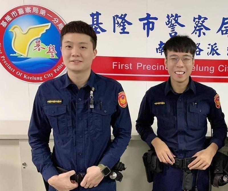 涉貪警員張晉維(右)與周聖倫(左)。(記者吳昇儒翻攝)