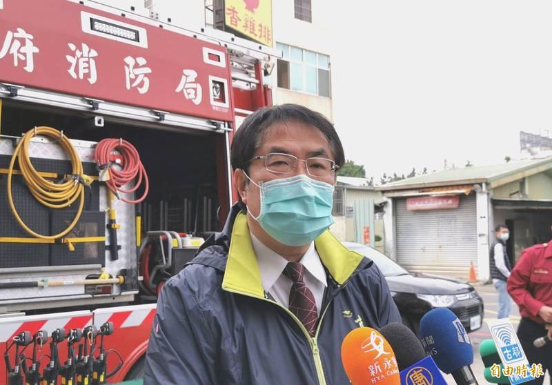 台南市長黃偉哲宣示打擊不法的決心。(記者吳俊鋒攝)