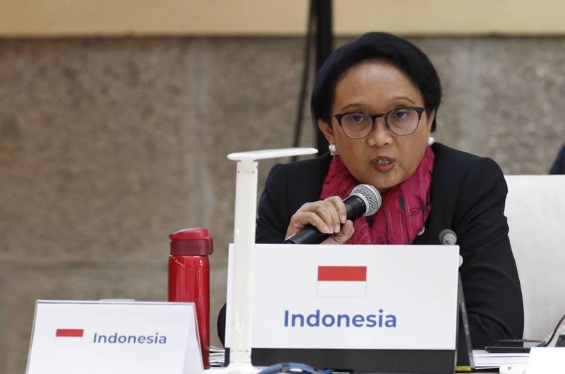 印尼外交部今日表示,考慮到緬甸的局勢發展,現在不是外長勒特諾(見圖)訪問的時機。(法新社資料照)