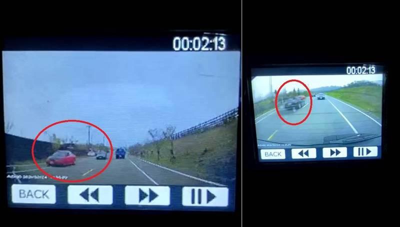 有目擊者指出,在不幸事故發生前曾與肇事喜美擦肩而過,對方行駛速度很快。(盧小姐授權提供)