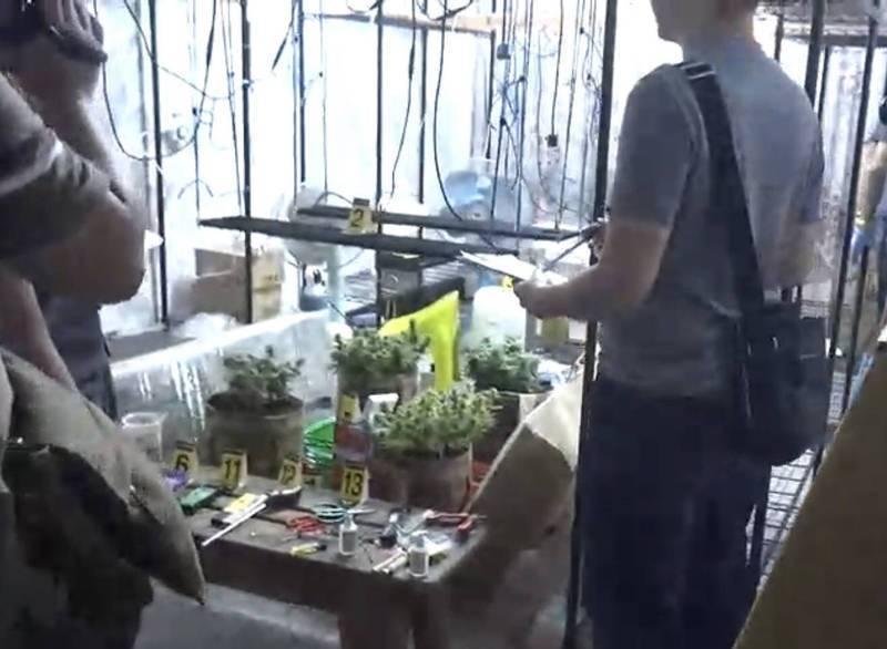 警方於夾娃娃店的樓上查扣大麻。(記者張瑞楨翻攝)