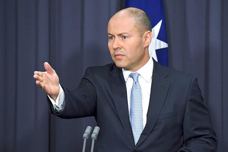 Australian Treasurer Josh Frydenberg speaks to reporters at Parliament House in Canberra on Thursday last week. Photo: AP