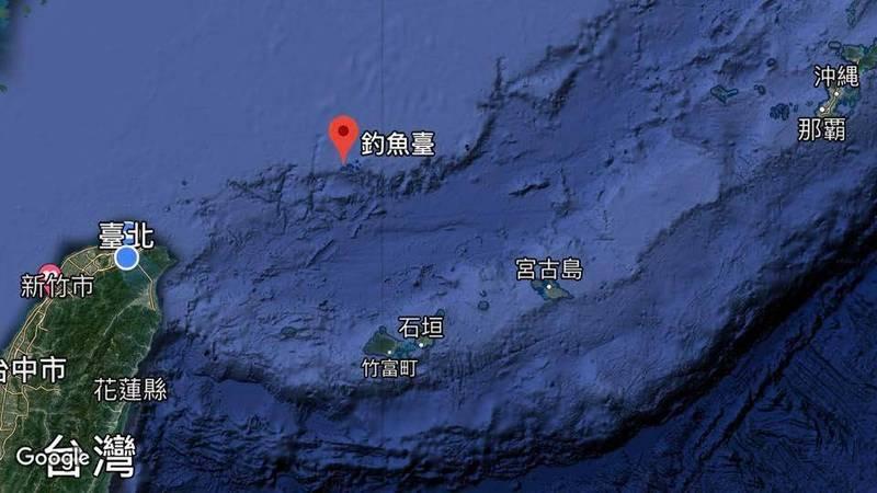 前國大代表黃澎孝認為所謂台灣北部空域,應該是指釣魚台附近海域。(圖取自Google地圖)