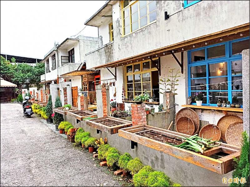 花蓮市仁愛街一處已經有50多年歷史的菸酒公賣局老宿舍,閒置20年成為市區的髒亂點,目前透過出租活化利用改變風貌。(記者王錦義攝)