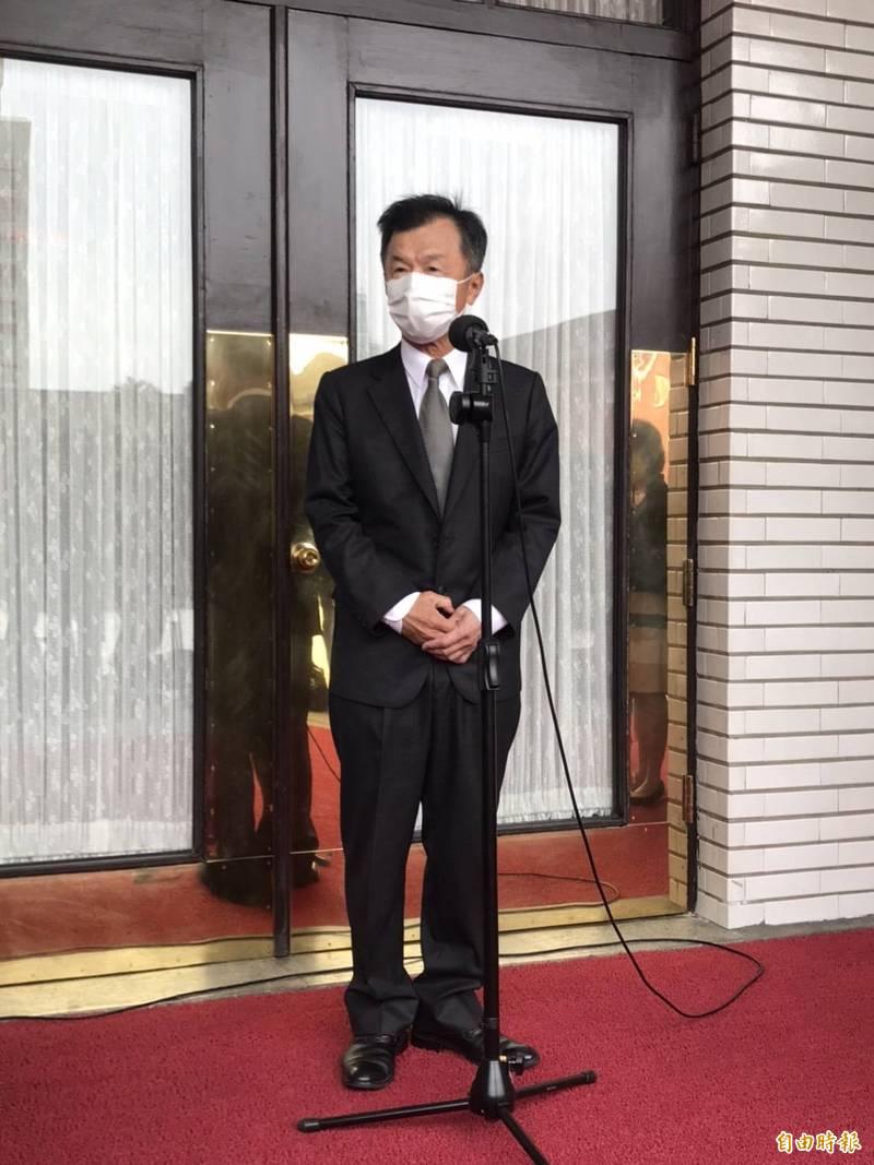 新任陸委會主委邱太三今赴立法院備詢前受訪時表示,陸方在九二共識上做過多詮釋,引發台灣民眾反感。(記者彭琬馨攝)