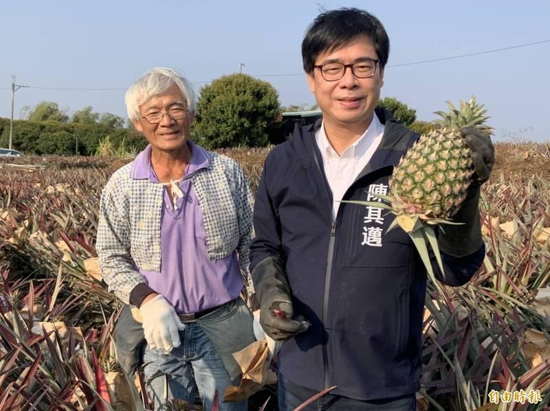 [新聞] 陳其邁親訪鳳梨果農:市府啟動輔導補助