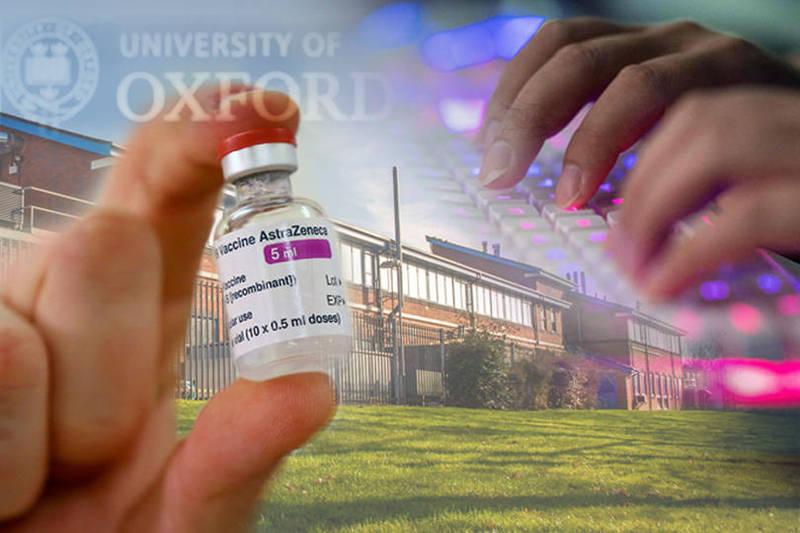 英國牛津大學昨日證實駭客入侵了該校「結構生物學」部門實驗室的部分儀器,而牛津─阿斯特捷利康武漢肺炎疫苗的相關研究未受波及。(本報合成)