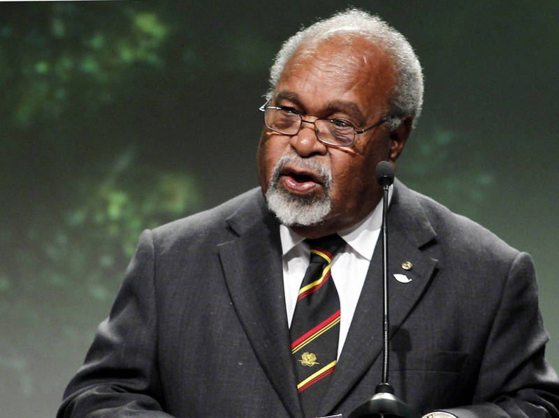 The daughter of Papua New Guinea's first Prime Minister Somare issued a statement today (26th) stating that Somare has passed away at the age of 84 and mentioned that he was diagnosed with pancreatic cancer in early February. The picture shows Soma mine.  (AFP information photo)