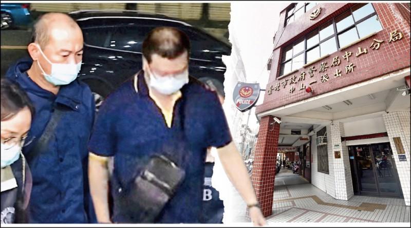 時任北市中山一派出所管區員警李功華(右)、陳俊安(左),被查出按月收賄,還每月上酒店吃粉味。(資料照)